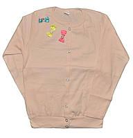 Кофта детская из тонкого вязаного трикотажа для девочек. размеры 2-8 лет