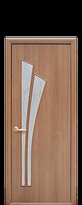 Дверь межкомнатная ЛИЛИЯ СО СТЕКЛОМ САТИН И РИСУНКОМ Р3 ПВХ