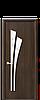 Двері міжкімнатні ЛІЛІЯ ЗІ СКЛОМ САТИН І МАЛЮНКОМ Р3 ПВХ, фото 2