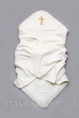 Крыжма махровая для крещения 100% хлопок, молочная, фото 2