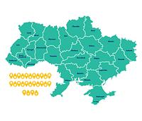 """Наклейка """"Карта Украины"""""""