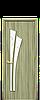 Двері міжкімнатні ЛІЛІЯ ЗІ СКЛОМ САТИН І МАЛЮНКОМ Р3 Екошпон, фото 3