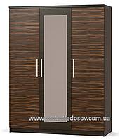 Вероника шкаф 3Д (Мебель-Сервис) макасар+венге1560х563х2034 мм