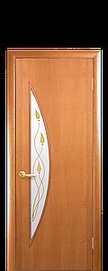 Дверь межкомнатная ЛУНА СО СТЕКЛОМ САТИН И РИСУНКОМ  Р1 Финиш бумага