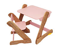 Детский столик и стульчик Карапуз (розовый)