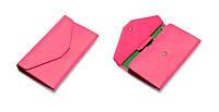Женский ярко-розовый портмоне-чехол для телефона