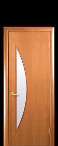 Дверь межкомнатная ЛУНА СО СТЕКЛОМ САТИН Финиш бумага
