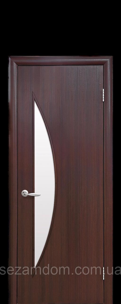 Дверь межкомнатная ЛУНА СО СТЕКЛОМ САТИН Экошпон