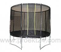 Батут KIDIGO с защитной сеткой VIP BLACK 304 см