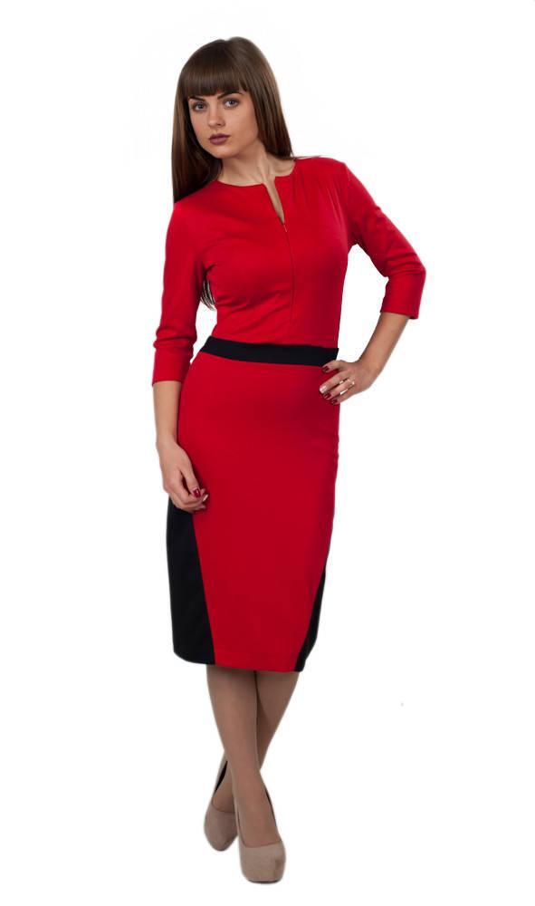 Платье Британи 0104_1 Красное