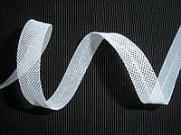 Косая бейка-сетка, заутюженная, белая 10мм