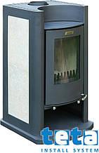 Котел-плита твердотопливный KALVIS-1-1 воздухогрейный камин