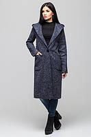 Модное молодежное синее пальто  Рио Leo Pride 42-48 размеры