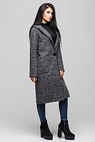 Модное молодежное серое пальто  Рио Leo Pride 42-48 размеры