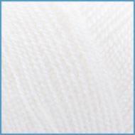 Пряжа для вязания Valencia Arabella(Валенсия Арабелла), 001 (White) цвет, 90% премиум акрил, 10% шелк