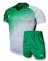 Футбольная форма Europaw 007-17 зелено-белая (XS, М)