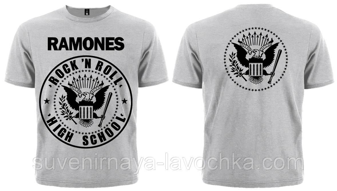 "Рок футболка Ramones ""Rock'n'Roll"" (меланж)"