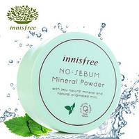 Бесцветная матирующая рассыпчатая пудра INNISFREE/ No sebum mineral powder 5g