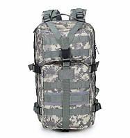 Тактический Штурмовой Военный Рюкзак 35-40л 3 цвета Пиксель