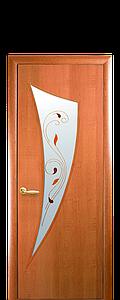 Дверь межкомнатная ПАРУС СО СТЕКЛОМ САТИН И РИСУНКОМ Р2 Финиш бумага