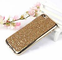 Золотистый силиконовый чехол для iPhone 6/6S
