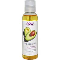 Масло авокадо для лица и волос косметическое Now Foods Avocado Oil, 118 мл