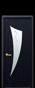 Дверь межкомнатная ПАРУС СО СТЕКЛОМ САТИН И РИСУНКОМ Р3 Экошпон