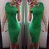 Изысканное удлиненное платье с ожерельем (розовое, желтое), фото 3