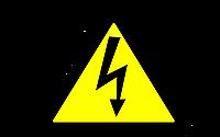 """Наклейка """"Осторожно! Электрическое напряжение."""""""