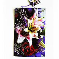Подарочный пакет Средний узкий 16х25х7см Большая орхидея