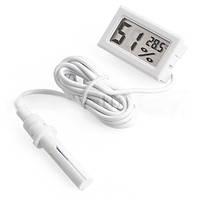 Термометр цифровой уличный WSD-12, выносной датчик, 2 батарейки LR44, влажность, температура