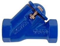 """Клапан обратный  1 1/2"""" для фекальных насосов с резиновым шаром, полнопроходной"""