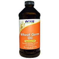 Масло зародышей пшеницы для лица и волос косметическое Wheat Germ Oi Now Foods, 473 мл