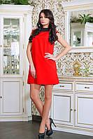 Платье коктейльное с бантиком ВАЛЕНТИНО красное