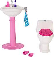 Barbie Набор мебели Барби санузел Dream Bathroom Playset