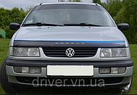 Дефлектор капота (мухобойка) Volkswagen Passat (B4) 1991-1997, на крепежах
