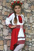 Сукня вишиванка з довгим рукавом для дівчинки., фото 1