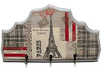 Ключница вешалка настенная из дерева Париж