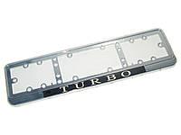 Рамка под номер NEON-Turbo/хром/стекло/подсветка