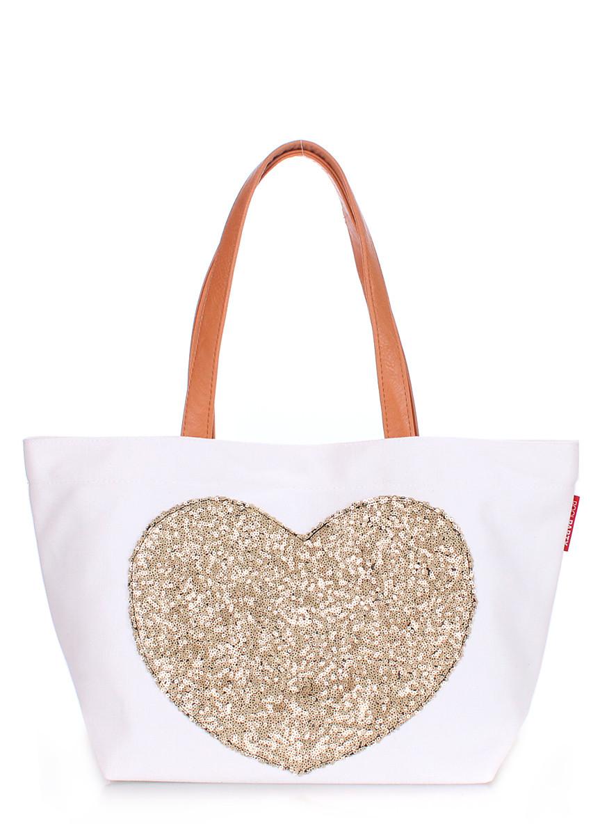 Женская повседневная коттоновая сумка POOLPARTY белая