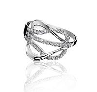 Кольцо серебряное 925 *Бесконечность с фианитами