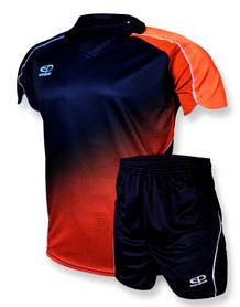 Подростковая футбольная форма Europaw 007-17 т.сине-оранжевая