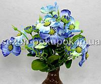 Букет анютины глазки (18-20 цветочков) Цвет -сине-голубой Цена за букет