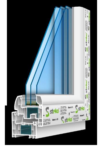 7-камерная профильная система Steko R 700  (Европа)