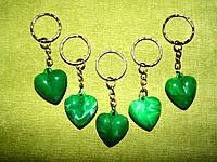"""Брелки """"Сердце""""  зелёное"""
