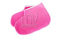 Носочки махровые для парафинотерапии, пара розовые