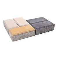 Плитка тротуарная Брусчатка, толщина 60, цвет Белый, фото 1