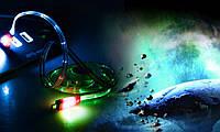 Выдвижной LED Кабель Micro Usb для Samsung, HTC, Android / зеленый
