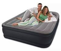 Надувная кровать двуспальная Intex 64136 (152х203х42 см.) + 220V