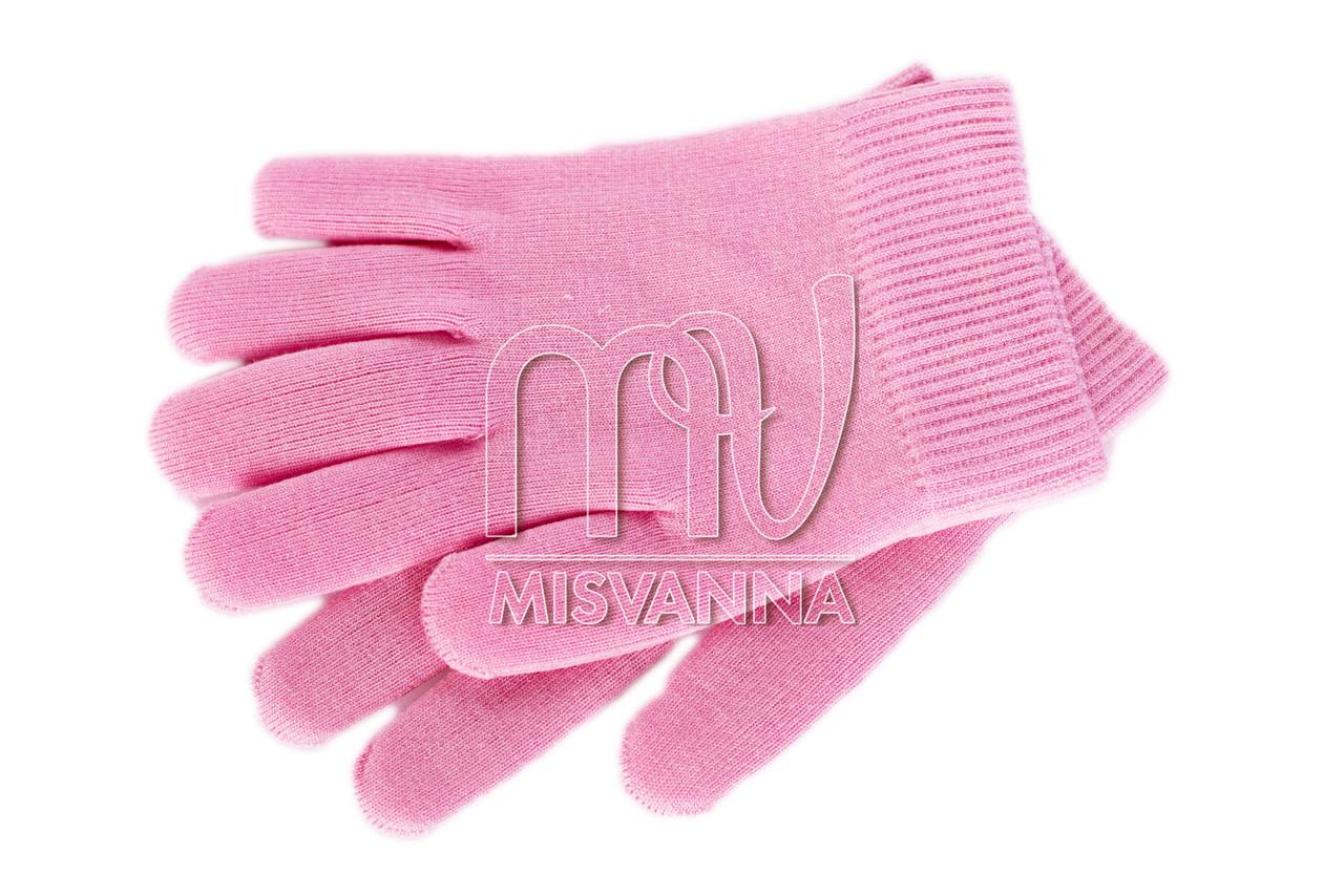 Термо перчатки для парафинотерапии на силиконовой основе для рук, пара розовые